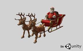 animated santa sleigh 3dsmax animated cgtrader