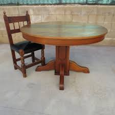 antique round dining table and chairs with design picture 5266