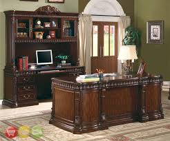 Executive Desk With Hutch Union Hill 3 Executive Desk Set Wood Hutch Office Furniture