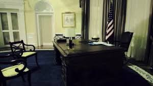 Oval Office White House Steadicam View Of Oval Office In White House Stock Video Footage