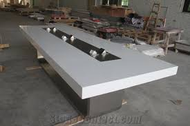 Marble Boardroom Table Acrylic Solid Surface Conference Table Square Marble Meeting Desk