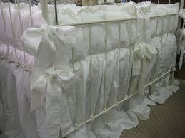 White Ruffle Crib Bedding Reserved For Kirksey 1 Ruffled Crib Bedding In White Washed
