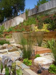 retaining wall landscaping landscape contemporary with boulders