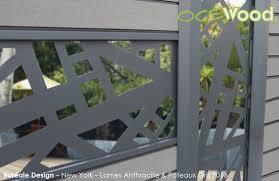 lettre decorative metal lames aluminium panneaux composites océwood clôtures