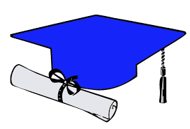 blue graduation cap blue graduation cap clipart image clip library