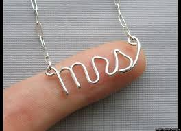 Wedding Gift Necklace Best 25 Mrs Necklace Ideas On Pinterest Gifts For The Bride