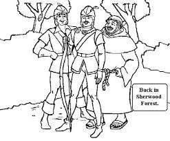 robin hood sherwood forest coloring pages place