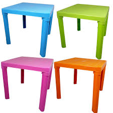 Childs Patio Set by Kids Children Plastic Table 4 Colours Home Garden Picnic Home