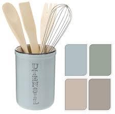 Green Kitchen Utensil Holder Vintage Ceramic Round Utensil Cutlery Storage Pot Holder Caddy
