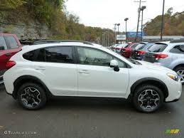 subaru hatchback 2014 satin white pearl 2014 subaru xv crosstrek 2 0i limited exterior