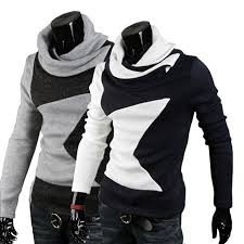types of mens sweaters selling males high collar pentagram pattern fashion