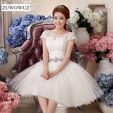 simple short white wedding dress promotion shop for promotional