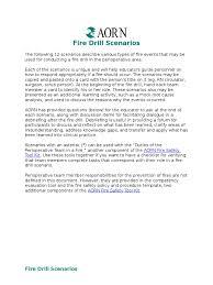 debriefing report template fire drill senarios tool surgery anesthesia