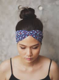 asian headband slim turban headband boho prints zizway