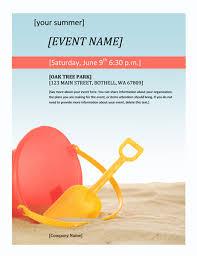 event flyer summer office templates