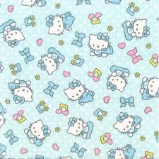 Light Cotton Fabric Cotton Fabric Character Fabric Flannel Hello Kitty Baby Tunes
