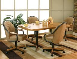 Dining Room Chairs With Arms And Casters Emejing Dining Room Chairs With Rollers Images Home Design Ideas