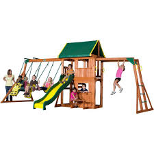 wooden swing set removal back yard wooden swing set on green