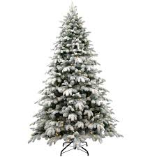 national tree company 7 5 ft snowy avalanche tree with dual color