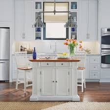kitchen island white and distressed oak finish homestyles