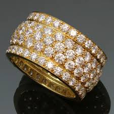 gold wedding rings in nigeria cartier nigeria yellow gold 5 row diamond band ring cartier