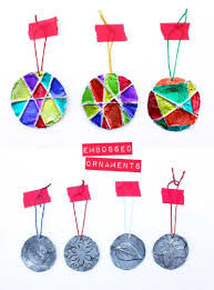 5 minute embossed ornaments christmas ornaments art u0026 craft ideas