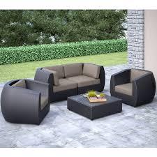 ae outdoor corona 3 piece deep seating all weather wicker