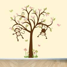 Nursery Monkey Wall Decals Monkey Wall Decals Nursery Wall Decals Tree Wall Decal