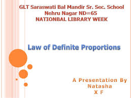 law of definite proportions and law of multiple proportions