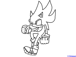 best classic super sonic coloring pages images printable