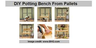 diy potting bench from pallets construct101
