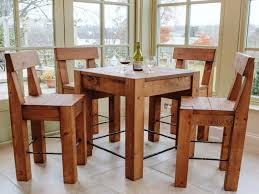 rustic pub table and chairs inspiring rustic pub table sets design themsfly intended for bar