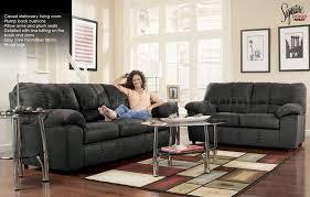 microfiber sofa and loveseat black microfiber casual sofa loveseat set by ashley design