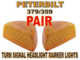 peterbilt 379 cab marker lights amazon com cpw tm peterbilt 379 359 turn signal head light marker