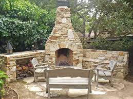 Stone Fireplace Kits Outdoor - outdoor stone wood burning fireplace kits lowes stacked cost