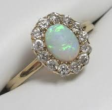 vintage opal engagement rings vintage opal and diamond engagement rings engagementring ideas 2018