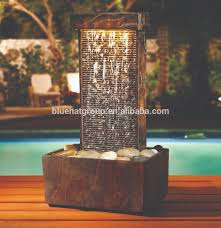 indoor fountain with light modern design led light artificial indoor water fountain buy of with