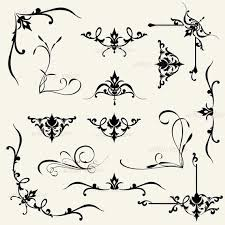 corner pattern png calligraphy clipart pattern pencil and in color calligraphy