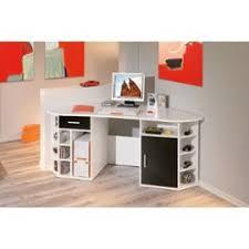 bureau rangement bureau d angle fabri blanc table informatique pc avec rangement