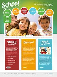play school brochure templates center website template image slideshow school children