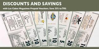 restaurant discounts discounts savings prepaid vouchers los cabos guide