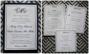Wedding Invitations Inserts Formal Navy U0026 White Monogram U0026 Border Clutch Pocket Wedding
