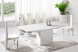 amazing decoration white marble dining table set creative designs