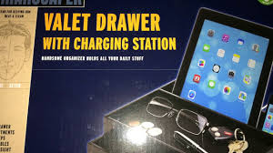 Desk Valet Charging Station Manscaper Valet Drawer With Charging Station Review Walmart Item