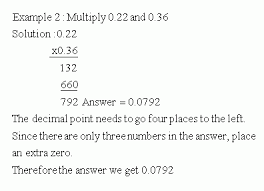 multiplication in decimals multiply by decimal number meap