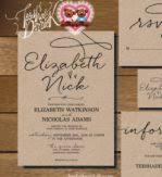 blank wedding invitation kits wedding invitations kits rectangle potrait black artistic wording