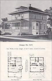 foursquare house plans prairie box american foursquare 1908 radford plan no 7079