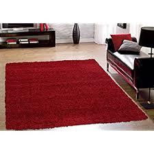 Black And Red Shaggy Rugs Amazon Com Soft Shag Area Rug 5 U0027 X 7 U0027 5 Feet By 7 Feet Plain