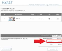 gift card discounts hyatt gift card physical digital check certificates at 10