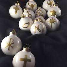 chrismon ornaments set of 12 christian crismon tree free shipping